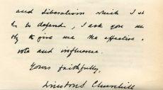 Почерк Уинстона Черчилля