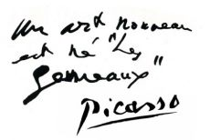 Почерк Пабло Пикассо
