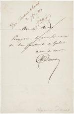 Почерк Александра Дюма (отец)