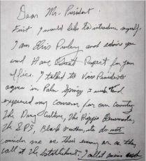 Почерк Элвиса Пресли