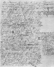 Почерк Льва Николаевича Толстого