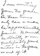 Почерк Марка Твена