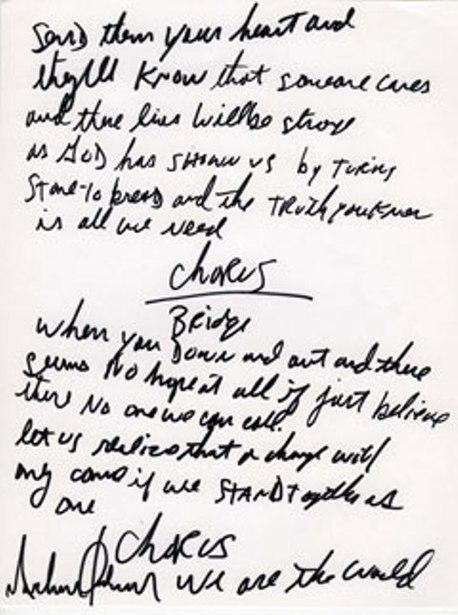 Почерк Майкла Джексона